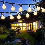 Guirnalda Luces Exterior Solar, OxyLED 120 LED 22M Cadena Solar de Luces IP64 Impermeable 8 Modos Guirnaldas Luminosas Cadena de Luces bolas para Exterior,Interior,Jardines (Blanco Cálido)