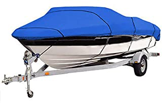 Boat Cover, Super Strong Heavy Duty 600D Marine Grade Oxford Cloth Waterproof,for V-Hull Runabout Jumbo Boat Speedboat Fis...