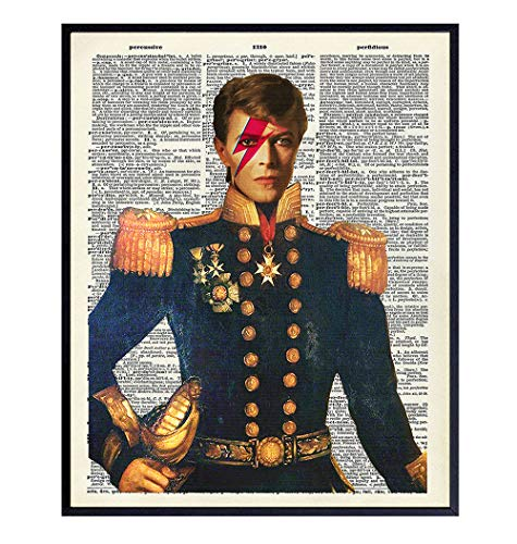 David Bowie Major Tom Dictionary Art - 8x10 Photo - Original Artwork for Office, Dorm, Home Decor or Wall Decoration - Cool, Unique Gift for Ziggy Stardust Fans - Unframed Picture Print Poster