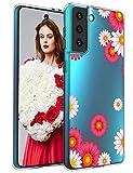 Tcbydl für Samsung Galaxy S21 Hülle,Pflanze Silikon TPU
