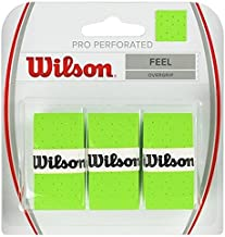 Wilson Pro Overgrip Perforated 3 Pack - White, Green, Pink - Tennis - Badminton - Squash