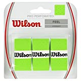 Wilson Pro Overgrip Perforated 3 Pack - White, Green, Pink - Tennis - Badminton -...