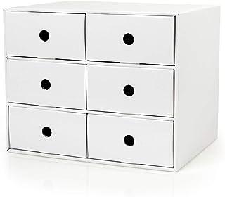 HongLianRiven Organisateur de Bureau Classeurs A4 en Plastique Armoire de données Casier à tiroirs Armoire de Bureau Armoi...