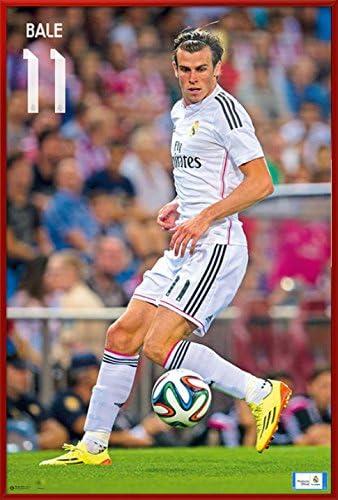 POSTER STOP ONLINE Gareth Bale Framed Sport Soccer Poster Print Real Madrid Size 24 x 36 product image