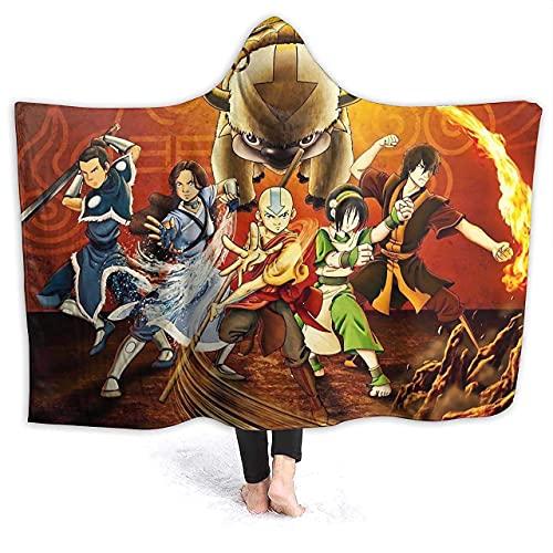 N \ B Avatar Aang - Manta con capucha de franela suave para niños (60 x 50 pulgadas)