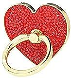 Swarovski Anneau autocollant Glam Rock, rouge, combinaison de métaux plaqués