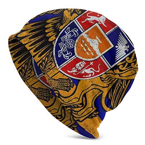 Gorro de Punto, Bandera de Armenia, Gorro de Calavera Suave para Adultos, Gorro cálido para Hombres y Mujeres