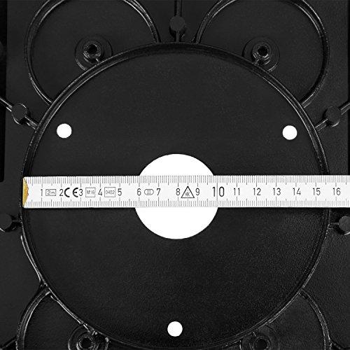 EBERTH Oberfräsentisch (870 x 330 mm Arbeitstisch, 155 mm Fräskorbdurchmesser, 280 mm Arbeitshöhe, beidseitige Tischverlängerung, Winkelanschlag, Schutzschalter) - 4