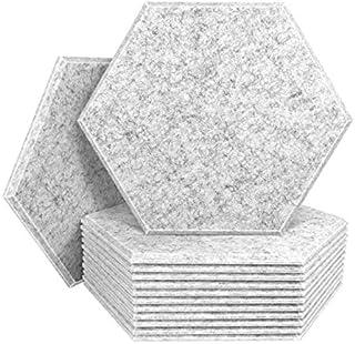 Nrpfell 12 st ljudisolerande paneler hexagon akustiska paneler för akustisk behandling, fasade plattor för eko-basisolering