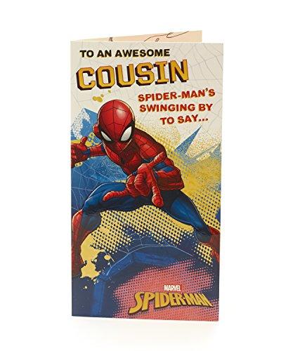 Carlton 547187–0Marvel Spiderman Cousin Geburtstagskarte