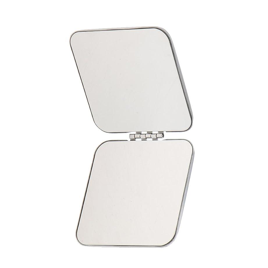誤解を招く定規リーン鏡 化粧鏡 コンパクトミラー ミラー 拡大ミラー 折りたたみ式 ポケットサイズ 両面