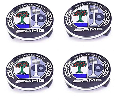 4 Pcs Coche Tapas Centrales Llantas, para Mercedes Benz 75mm Tapas Rueda Centro Tapacubos Coche Insignia Del Polvo Accesorios Estilo