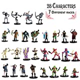 Painted DnD Miniatures- 28 Mini Figures - All Unique Designs - 1' Hex-sized for D&D Dungeons and Dragons, Pathfinder, and All RPG Tabletop Games- Features Goblins, Orcs, Gnolls, Skeletons & More