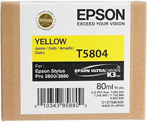 Epson T5804 Tintenpatrone Singlepack Gelb Bürobedarf Schreibwaren