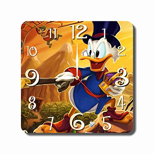 MAGIC WALL CLOCK FOR DISNEY FANS FBA DuckTales - Scrooge McDuck 11.8'' Handmade Made of Acrylic Glass - Get Unique décor for Home or Office – Best Gift Ideas for Kids, Friends, Parents