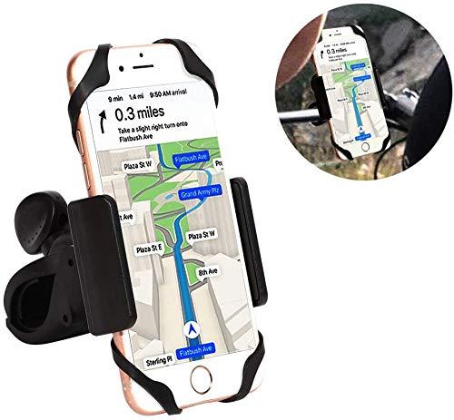 picK-me Porta Telefono Bici, Supporto per Cellulare con Manubrio Universale con Rotazione a 360 °, Compatibile per 4-6,5 Pollici iPhone e Smartphone Android (Nero)