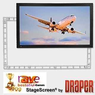 """Draper 383484 StageScreen (Black) - 120""""(72"""" x 96"""") - Video [4:3] - Matt White XT1000V"""