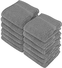 Utopia Towels - Juego de Toallas para la Cara - 700GSM Lavable en la Lavadora - (Paquete de 12, 30 x 30 cm, Gris) - Extra Suave y Altamente Absorbente