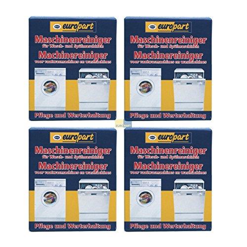 SET 4x ORIGINAL Europart Pflege Fett Entferner Fettentferner Reiniger Pflegemittel Reingungsmittel Waschmaschine Spülmaschine Geschirrspüler 811713 10007689 zur Werterhaltung
