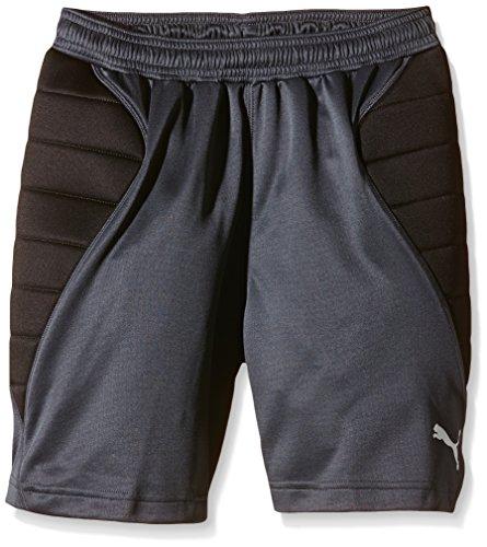 PUMA Kinder Hose GK Padded Short, Ebony-Black-Tradewinds, 152