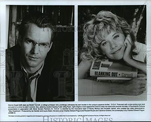 Historic Images - 1988 Press Photo Dennis Quaid and Meg Ryan Star in The Thriller D.O.A.