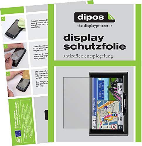 dipos I 3X Schutzfolie matt kompatibel mit Garmin nüvi 57 LMT / 58 LMT Folie Displayschutzfolie