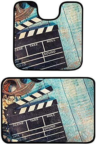 Soft Toys Gosmao Baño alfombras de 2 Piezas (Conjunto de Dos 50x81 cm / 50x50 cm) Anti resbalón Alfombra de baño y Pedestal Conjunto de Pedestal Extra Absorbente 100% Polipropileno Baño Aseo Alfombra