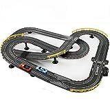 LINGLING Track Racing Slot Car Set Track Plástico Racetrack Toy Niños Coche Juguete eléctrico 8 años Niño Navidad/Regalo de cumpleaños Ensamblaje Creativo eléctrico