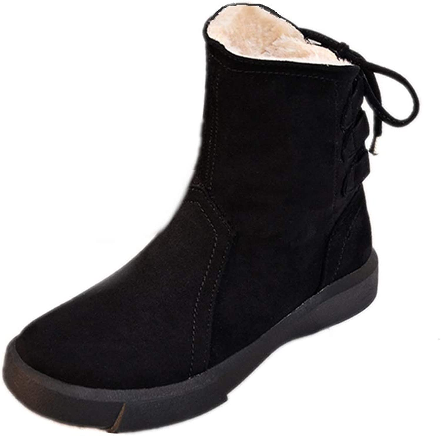 Ladies Women Ankle Boots  2018 New Martin Boots Autumn and Winter Tube Retro Short Boots Flat Wild Snow Boots Large Size Women's shoes