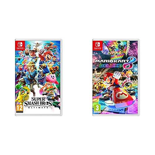 Super Smash Bros - Ultimate (Nintendo Switch) - Import anglais, jouable en français & Mario Kart 8 Deluxe