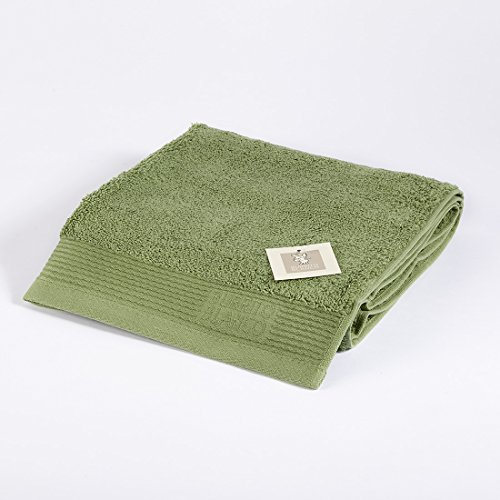 Burrito Blanco Toalla de Mano/Toalla de Lavabo Lisa de Rizo Suave Algodón 100% de 50x100 cm, Color Verde Oscuro