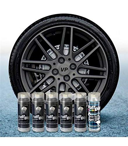 AutoFullCar Pack 5 Sprays Full Dip Antracita Metalizado Brillo FULLDIP