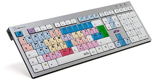 Preisvergleich Produktbild LogicKeyboard LKB-MCOM4-AJPU-DE Avid Media Composer Slim PC Tastatur,  Silber