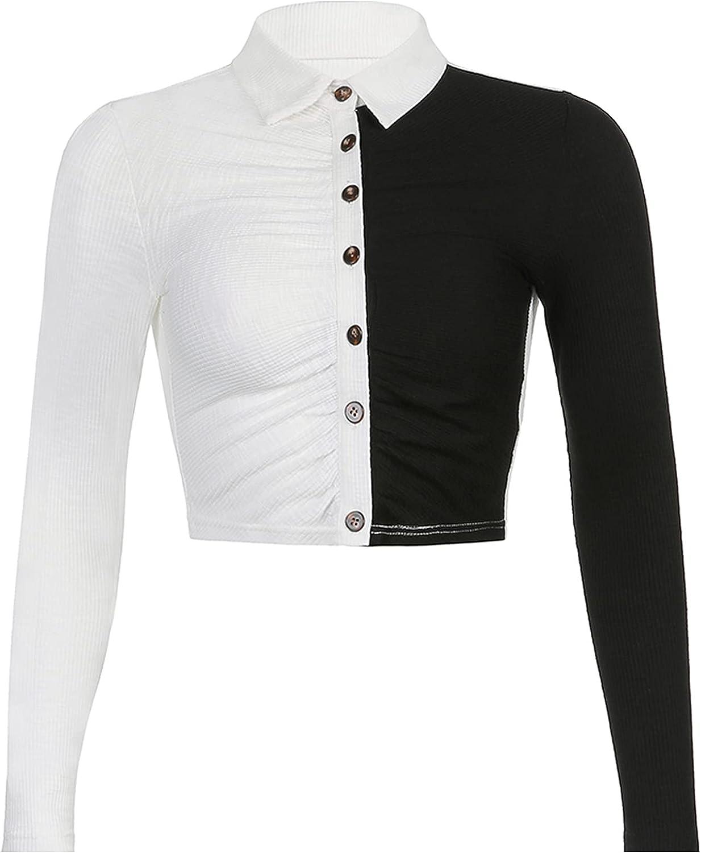 Y2k Vintage Floral Print Cardigan Crop Shirt Harajuku Long Sleeve Button Down Collared Shirt E Girl Streetwear