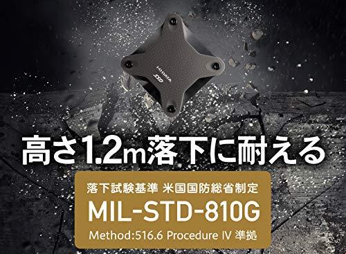I-ODATAポータブルSSD1TB耐衝撃軽量PS5PS4/PS4Pro/Mac対応USB3.1(Gen1)SSPH-UT1K/E