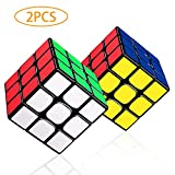 LOVEXIU Cube 3×3, 2 Lots Speed Cube 3x3x3, Cube Magique avec Vitesse de Rotation...