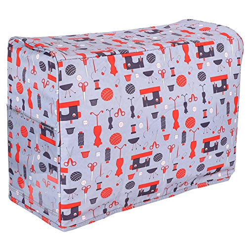 Bolsa para máquina de coser, práctica bolsa de almacenamiento de tela Oxford 600D, cubierta duradera contra el polvo de la máquina para el hogar