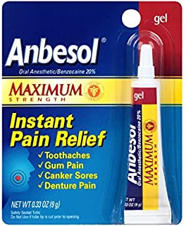 Anbesol Maximum Strength Oral Anesthetic Gel (0.33 Ounce Tube) by Anbesol