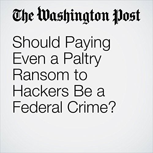 Should Paying Even a Paltry Ransom to Hackers Be a Federal Crime? copertina
