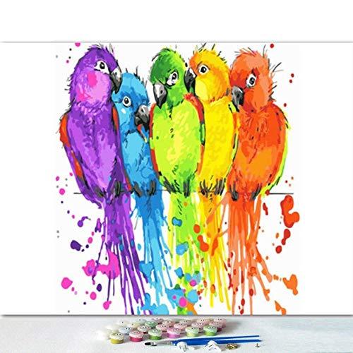 Lonfenner verf op cijfersvoor volwassenen DIY 'Vogel' Digitale Kleurplaten Moderne kunstenaar Woonkamer Slaapkamer Decoratieve Olieverfschilderij