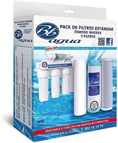 Bbagua Filtros para Equipos de Osmosis inversa, Blanco, Estándar