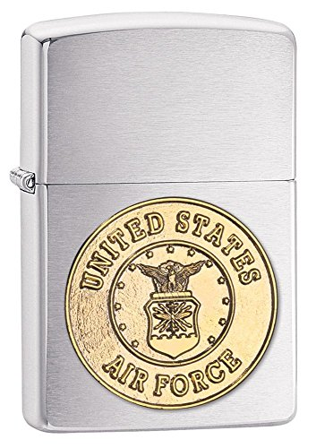 Zippo U.S. Air Force Outdoor Indoor Windproof Lighter Custom Personalized Engraved Message on Backside (Style9)