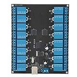 Yctze Módulo de relé SPDT controlado por USB, Tablero optoaislado de relé controlado por USB, Equipos eléctricos de conmutación, Facilidad de Uso