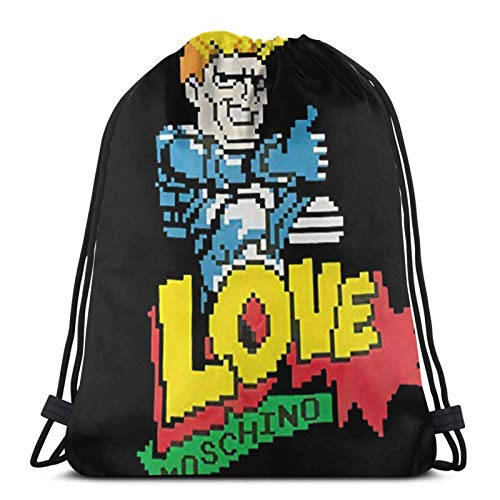 Bolsas con cordón Love Mos-Chino 8 Bit Unisex Cordón Bapa Bolsa de...