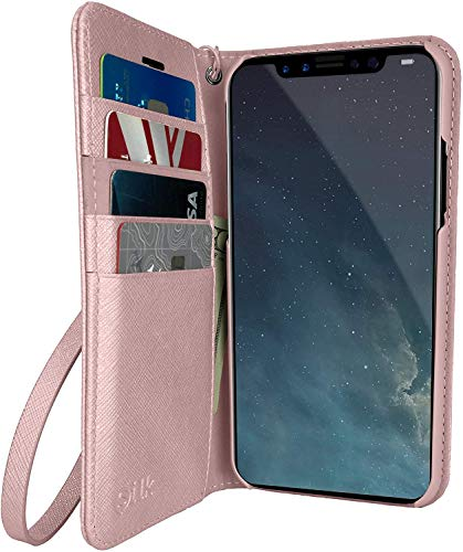 Smartish iPhone X/XS Wallet Case  Keeper of The Things  Folio Wallet Synthetic Leather Portfolio Flip Credit Card Cover with Kickstand  Rosé All Day