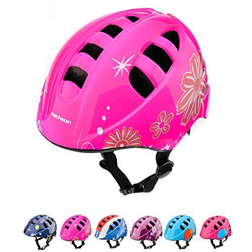 Casco Bicicleta Casco Biciclea Casco Bici Casco de Bicicleta para niños y jóvenes Casco MTB Carretera Ciclismo Skate Bicicleta patineta Patines monopatines MA-2 (S(48-52cm), Pink)