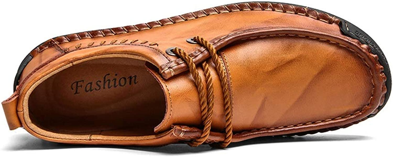 Wild Large Size Men's shoes Casual shoes Men's Leather shoes Cricket shoes (color   Yellow brown, Size   41)