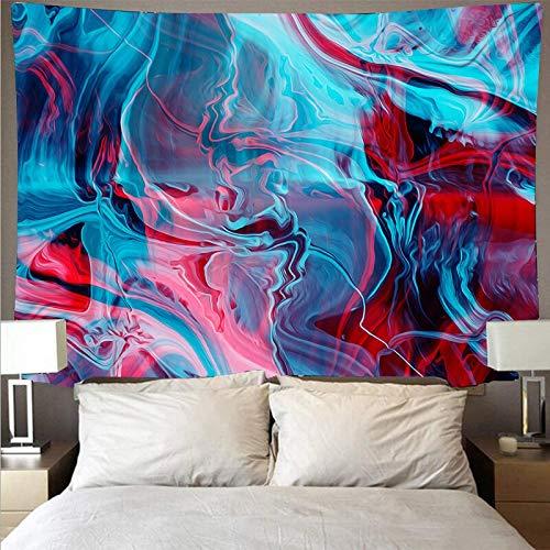 Misterioso colorido paño de pared pintado tapiz grande psicodélico colgante de pared toalla de playa manta tela de fondo A4 130x150cm