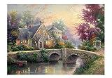 EACHHAHA Puzzle 1000 Piezas Adultos,Puente de Fairyland Puzzles para Adultos, Puzzle París,70x50CM,Rompecabezas de Piso Juego de Rompecabezas y Juego Familiar