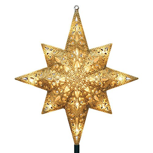 GE 16 Lights Gold Bethlehem Star Tree Top
